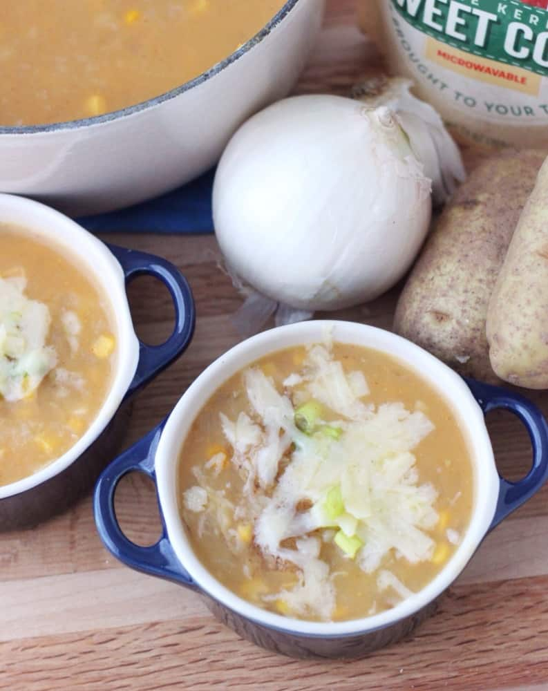 Quick Corn and Potato Soup from Living Well Kitchen #ad