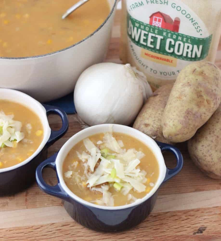 Quick Corn and Potato Soup from Living Well Kitchen #ad from @memeinge