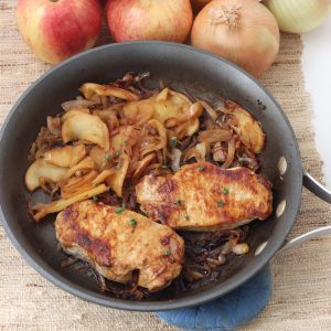 Pork Chops, Apples, and Onions