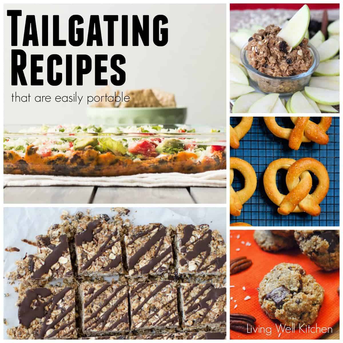 Tailgating Recipes that are easily Portable from Living Well Kitchen @memeinge