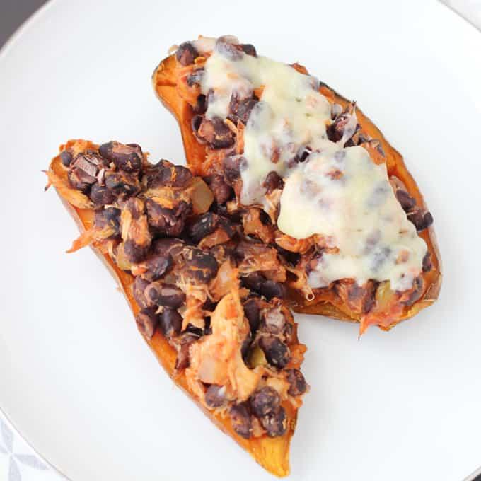 Easy Southwest Stuffed Sweet Potatoes from Living Well Kitchen @memeinge