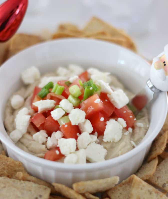 Easy Loaded Greek Hummus from Living Well Kitchen