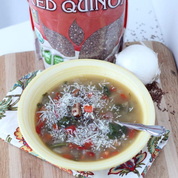 Sausage Veggie Quinoa Soup from Living Well Kitchen