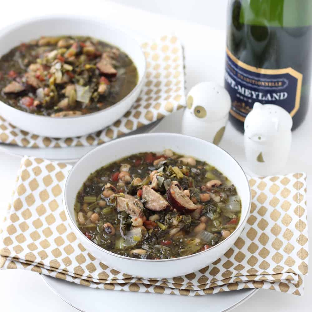 Good Luck Greens Soup from Living Well Kitchen @memeinge