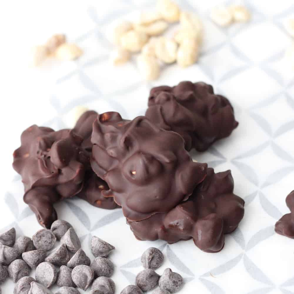 Peanut Chocolate Clusters from Living Well Kitchen @memeinge