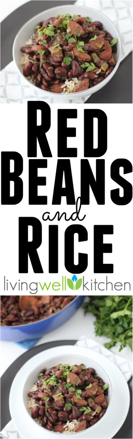 Red Beans and Rice from @memeinge is a delicious, spicy, and filling frugal feast. This gluten free, dairy free recipe is a great dinner for a crowd