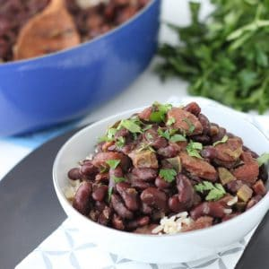 bowl of Red Beans and Rice with parsley