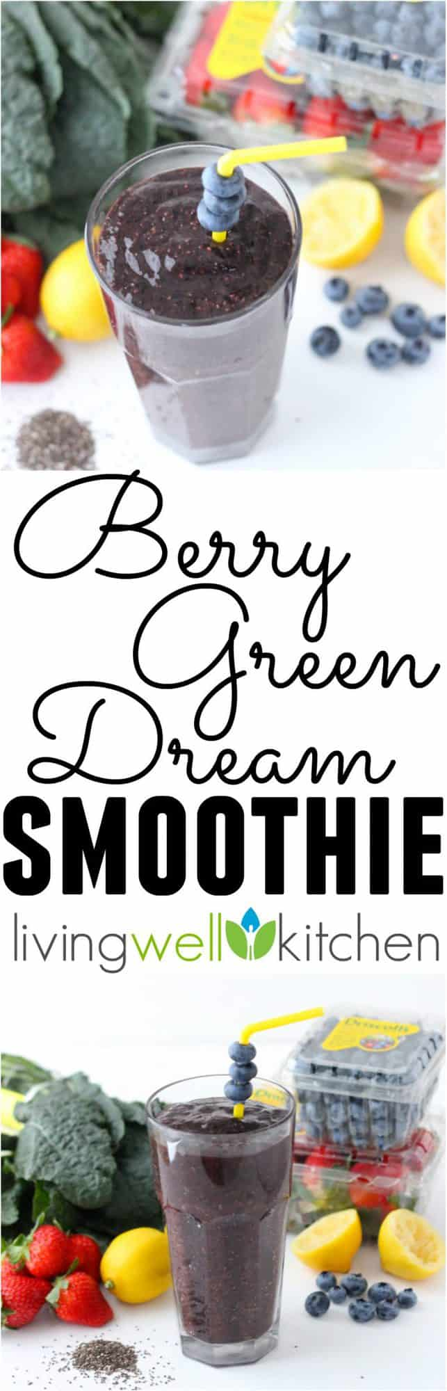 Berry Green Dream Smoothie from @memeinge is a vegan, gluten free smoothie filled with so much goodness in one delicious glass - fruits, veggies, fiber and protein! This recipe is perfect for a healthy, no sugar added meal or a snack (sponsored)