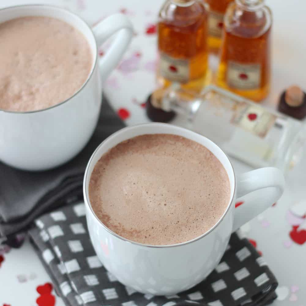 Bourbon Hot Chocolate from Living Well Kitchen