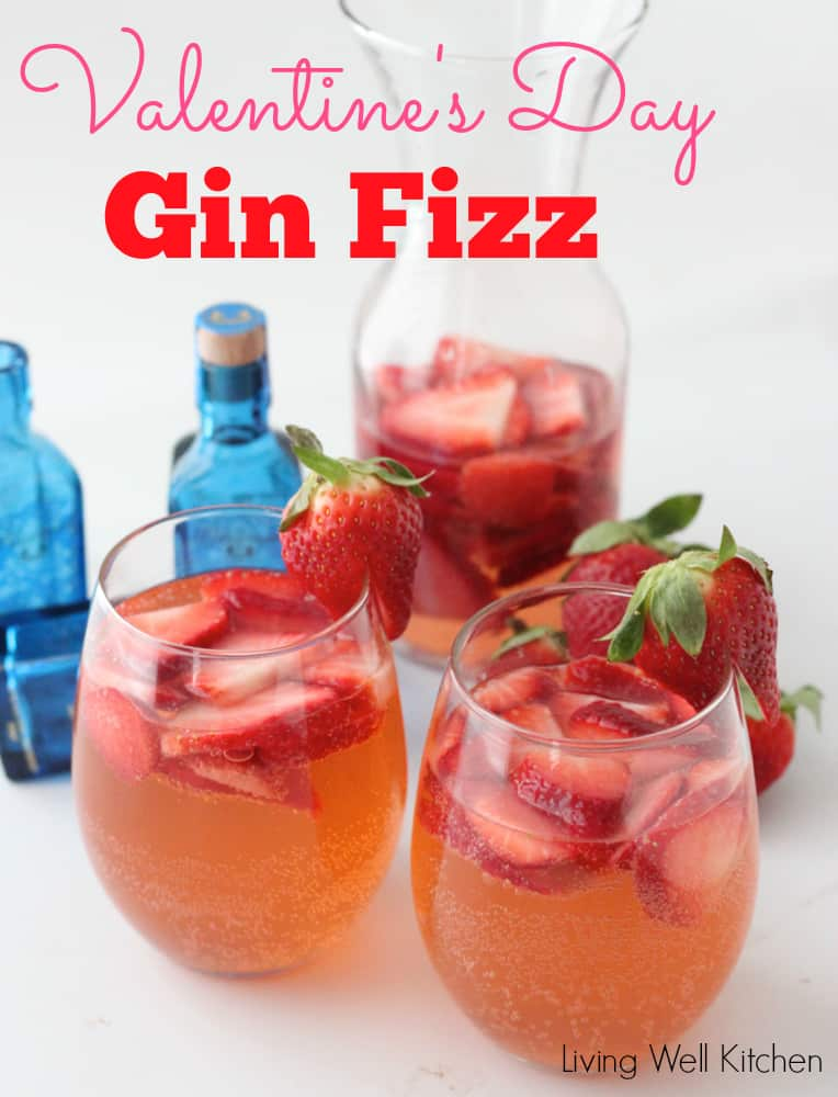 Valentine's Day Gin Fizz from Living Well Kitchen