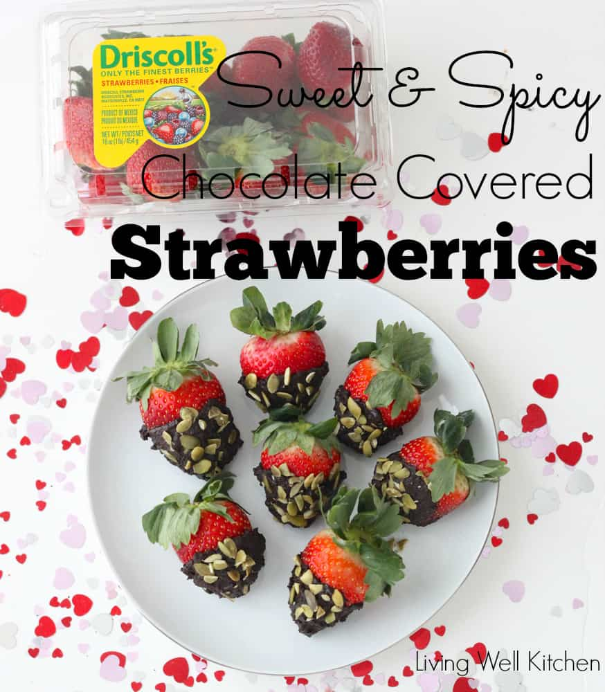 Sweet and Spicy Chocolate Covered Strawberries from Living Well Kitchen @memeinge
