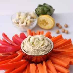 Artichoke Hummus from Living Well Kitchen @memeinge