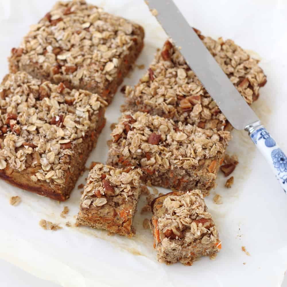 Coconut Carrot Coffee Cake from @memeinge is a delicious gluten and dairy free dessert that is low in added sugar but still full of flavor