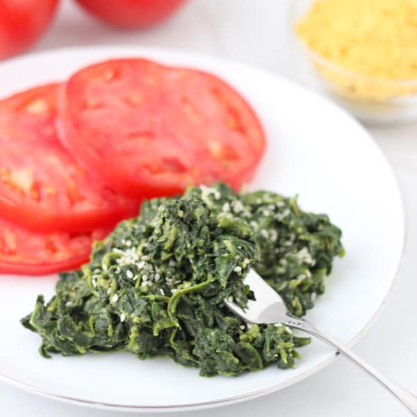 Vegan Creamed Spinach from Living Well Kitchen
