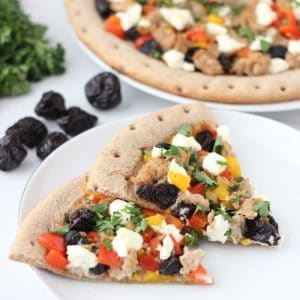 Dried Plum Pizza from Living Well Kitchen @memeinge