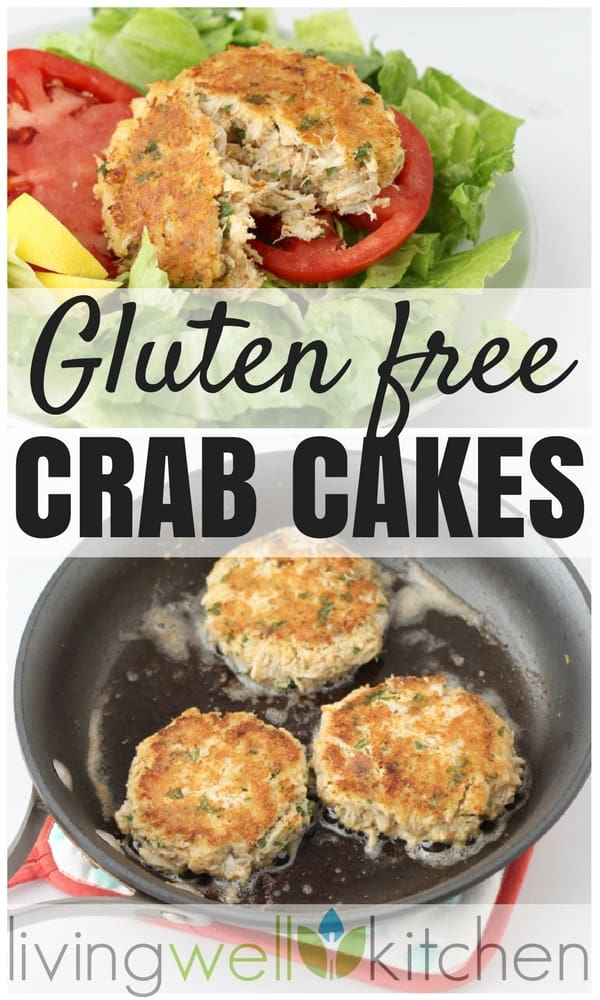 Gluten free crab cakes collage