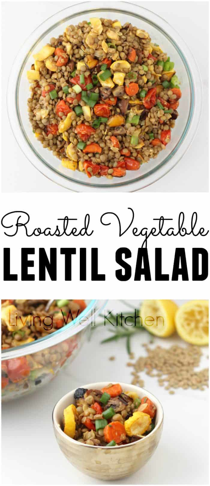 Roasted Vegetable Lentil Salad is a versatile, veggie-packed, budget-friendly, and vegan dish that doubles as a side or a main dish.