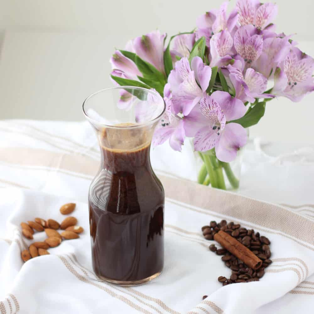 Chocolate Almond Coffee Concentrate from Living Well Kitchen @memeinge