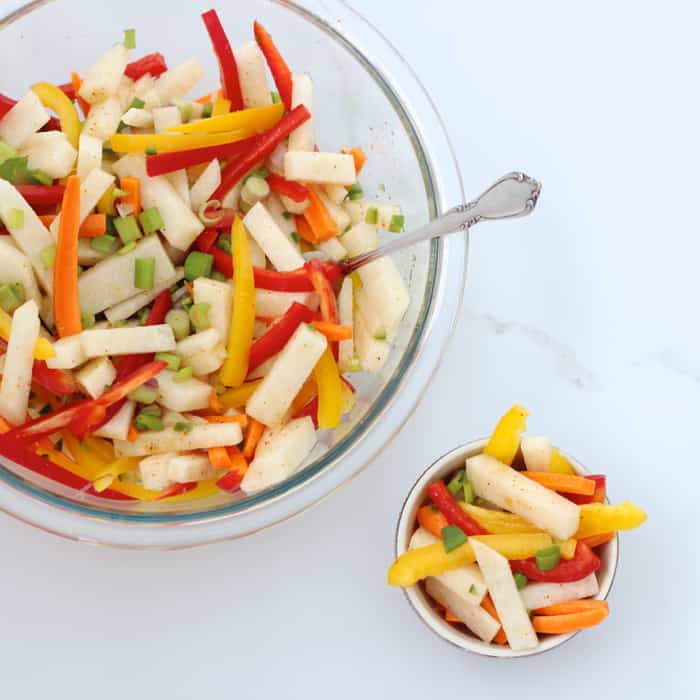 jicama salad from Living Well Kitchen
