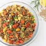 [Frugal Feasts] Roasted Vegetable Lentil Salad