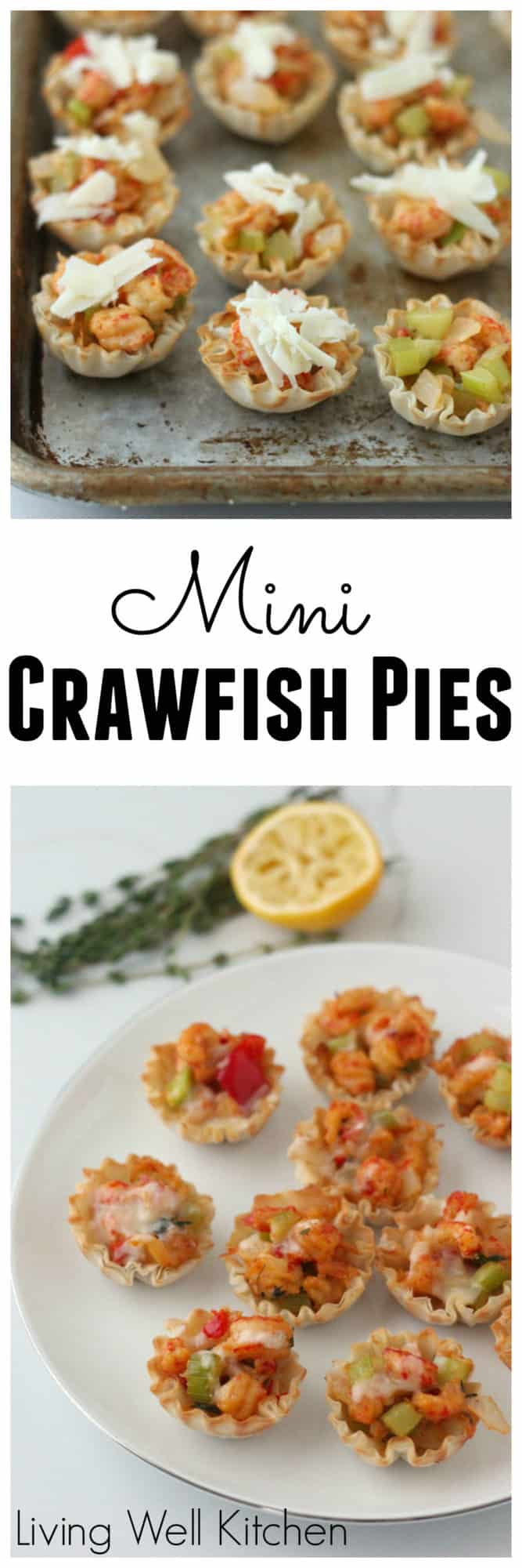 Revamped Mini Crawfish Pies are adorable bites of cajun deliciousness. The perfect recipe for an appetizer or party snack