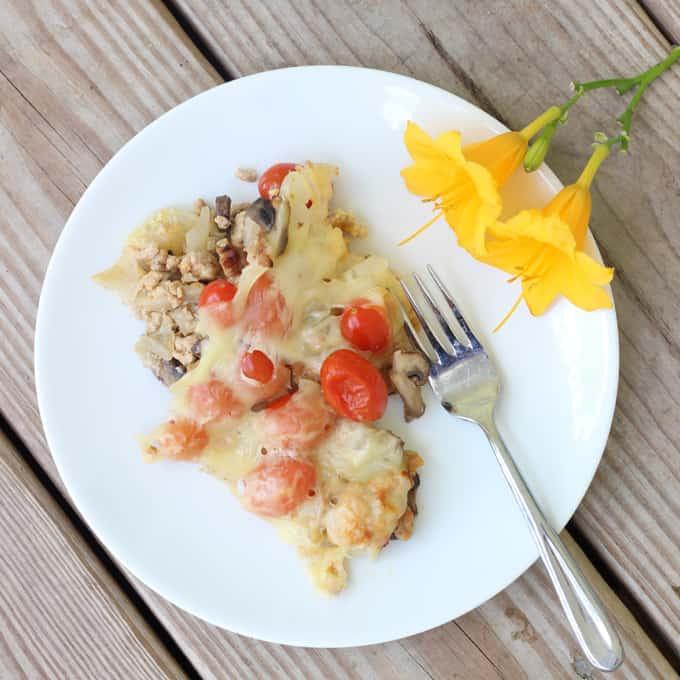 veggie and swiss breakfast casserole