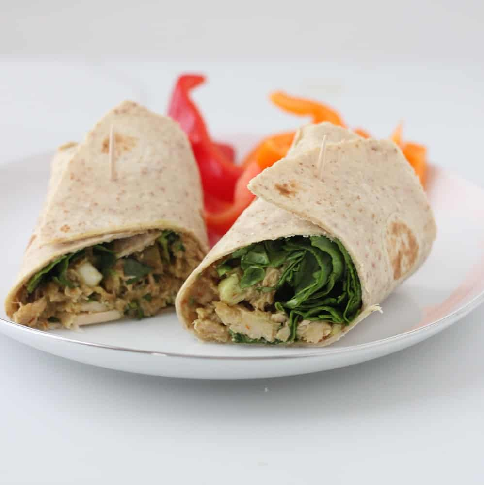Southwest Tuna Wraps from Living Well Kitchen @memeinge ~ Wraps filled with tuna, mashed avocado, and cilantro. Easy, nourishing, and delicious!