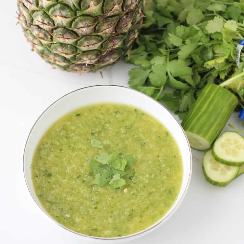 Pineapple Cucumber Gazpacho from Living Well Kitchen