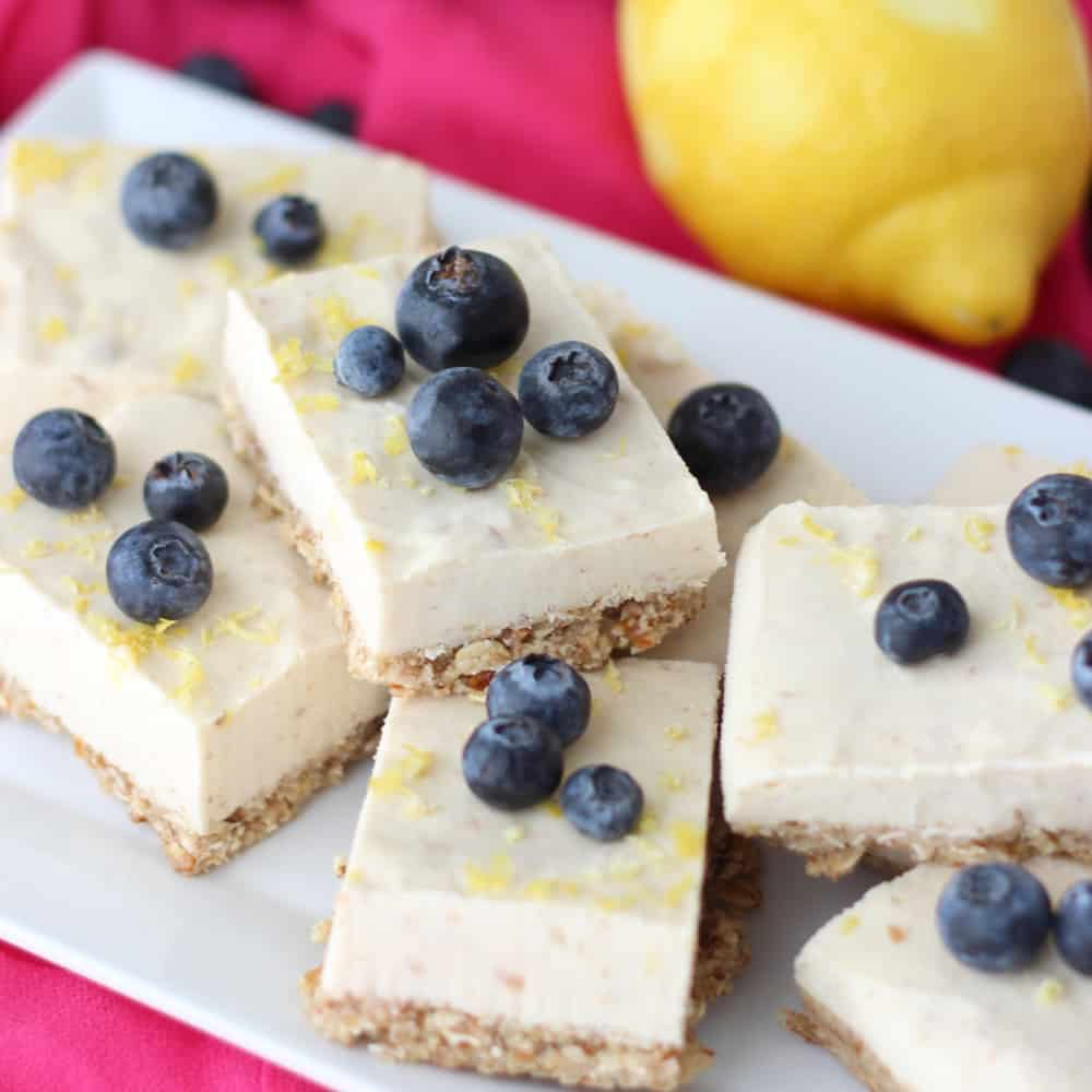Frozen No Bake Cheesecake Bars from Living Well Kitchen