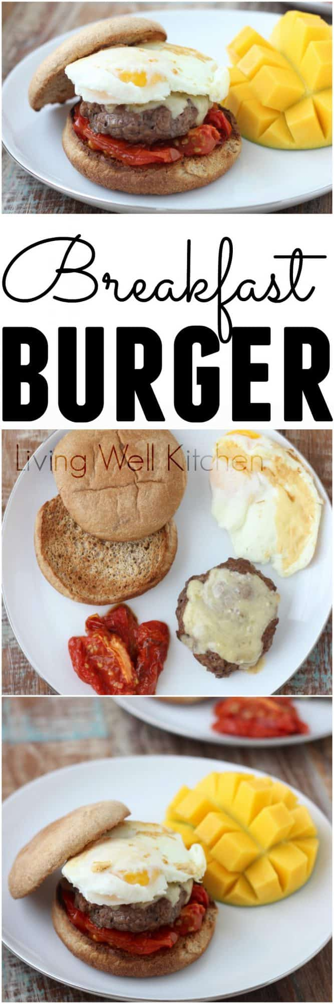 Start your day the right way with a Breakfast Burger full of protein and fiber to keep you satisfied all morning. (sponsored post)