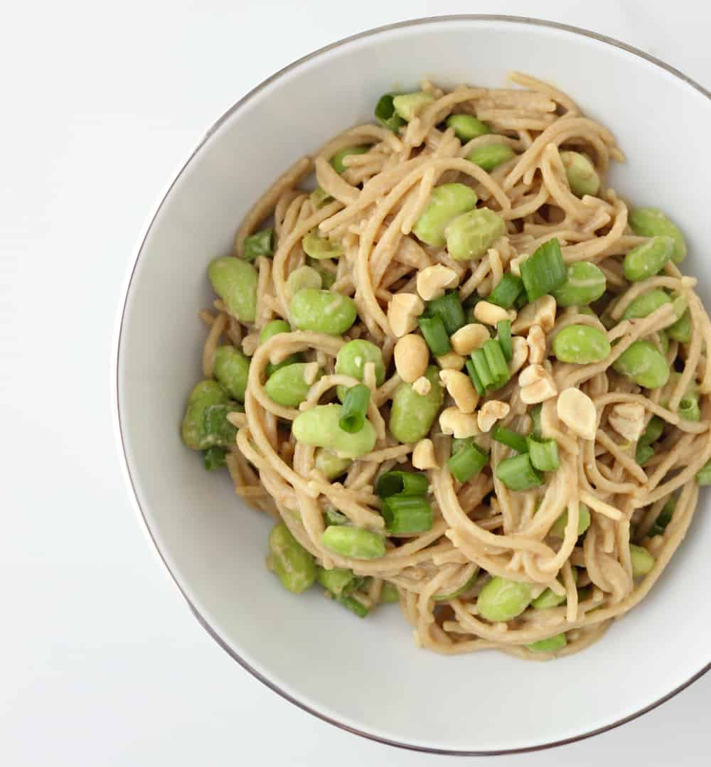 Easy Peanutty Pasta from Living Well Kitchen PastaFits
