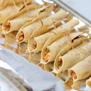 Freezer Chicken Taquitos from Living Well Kitchen