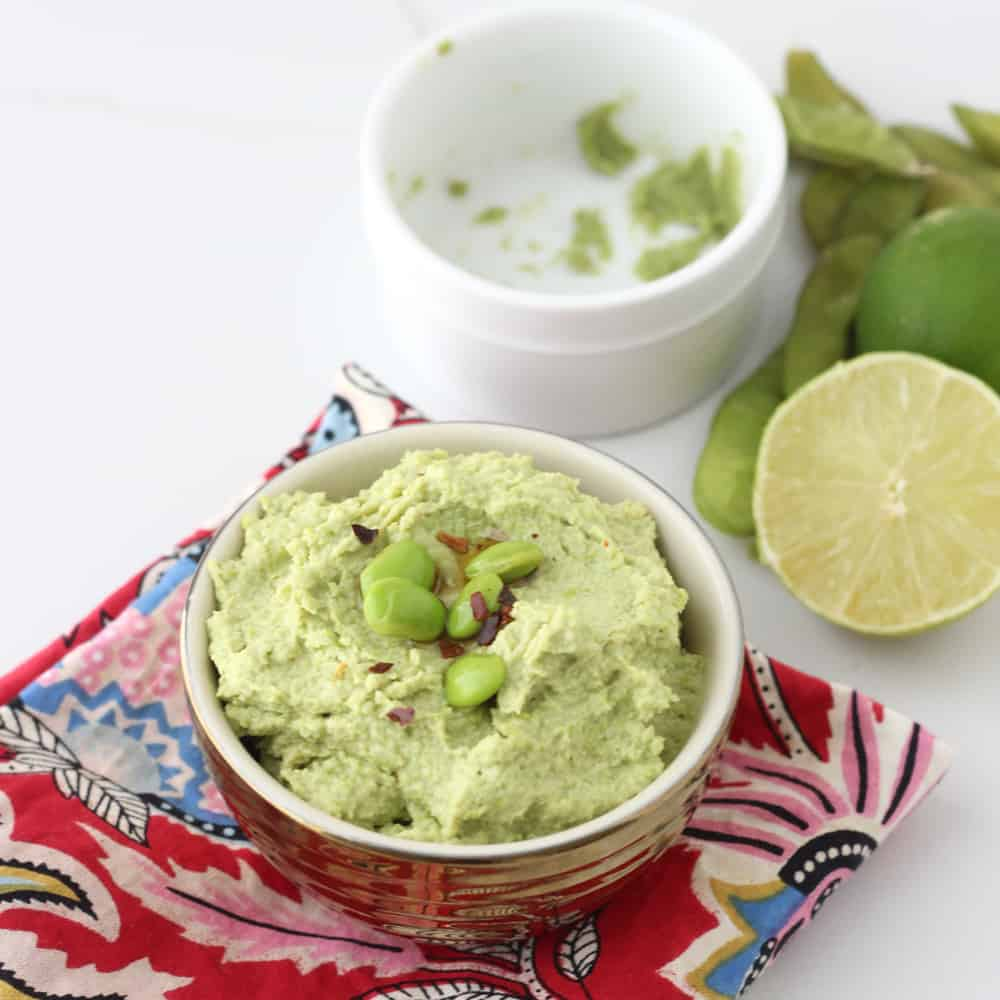 Wasabi Edamame Dip from Living Well Kitchen @memeinge