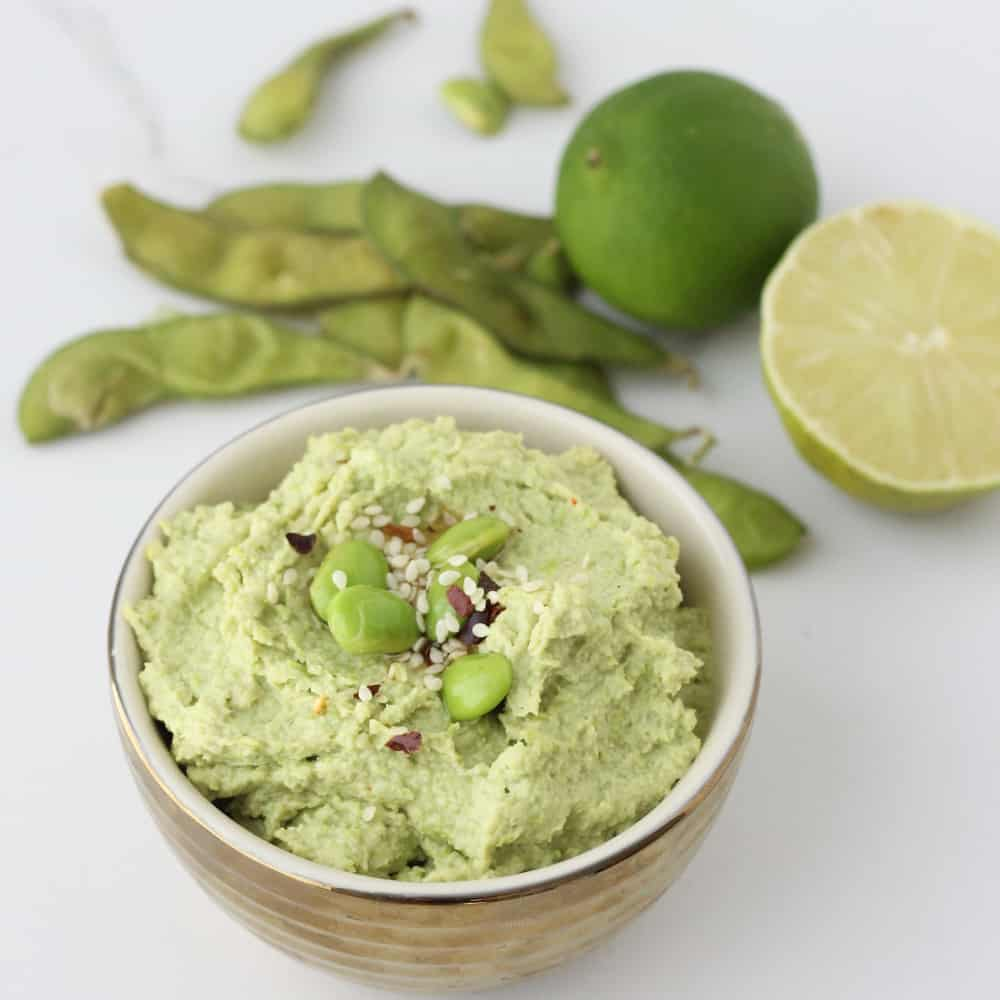 Wasabi Edamame Dip from Living Well Kitchen