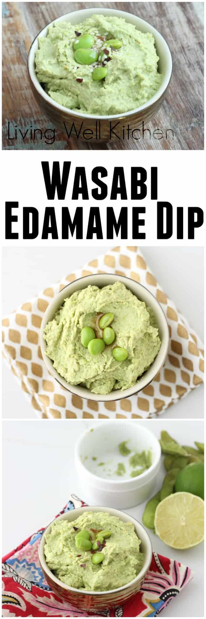 A flavor explosion in a bowl, this spicy Wasabi Edamame Dip from Living Well Kitchen @memeinge is tasty and high in protein