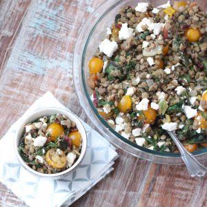 Chard and Feta Lentil Salad
