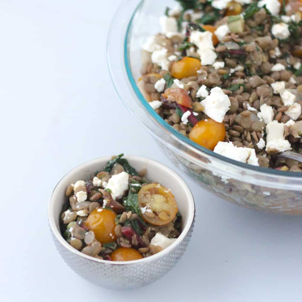 Chard and Feta Lentil Salad from Living Well Kitchen