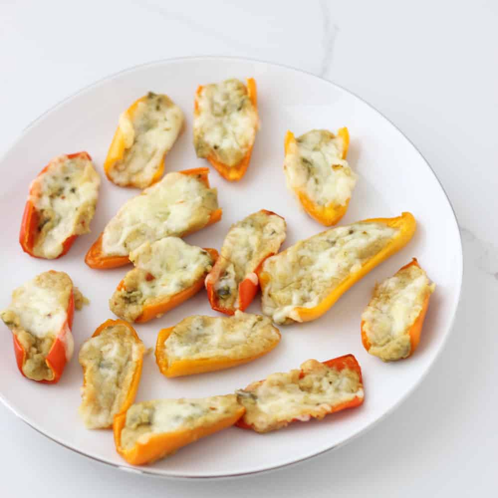 Hummus Stuffed Peppers from Living Well Kitchen
