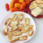 Hummus Stuffed Peppers
