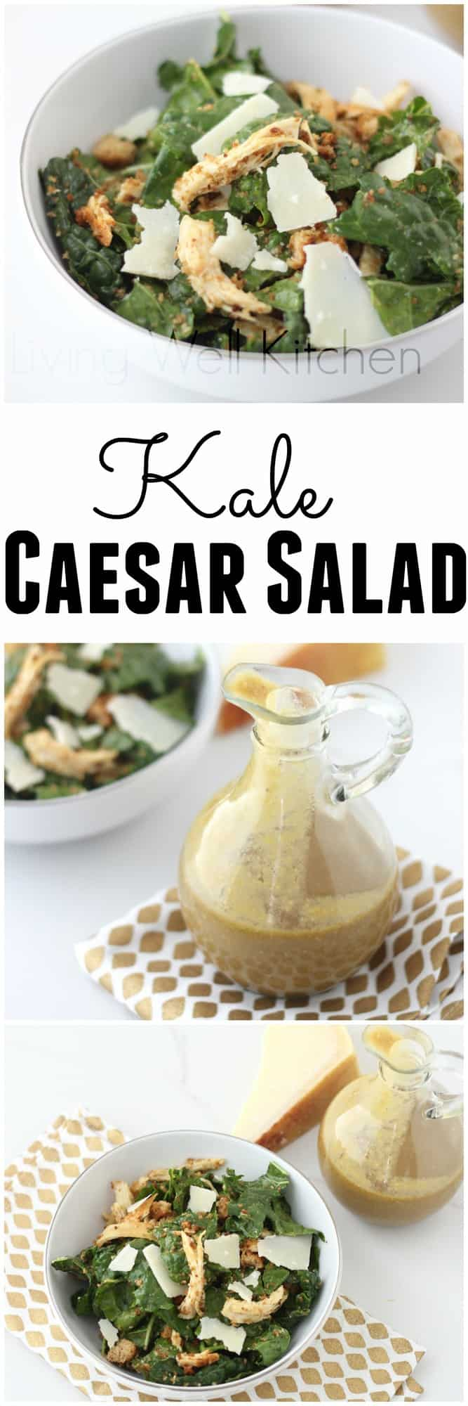 A kale salad so good, you'll think about it in your dreams. This isn't your ordinary boring salad! Kale Caesar Salad recipe from @memeinge made with a rich and creamy Avocado Balsamic Caesar Dressing makes this healthy salad a to-die-for dinner or lunch idea