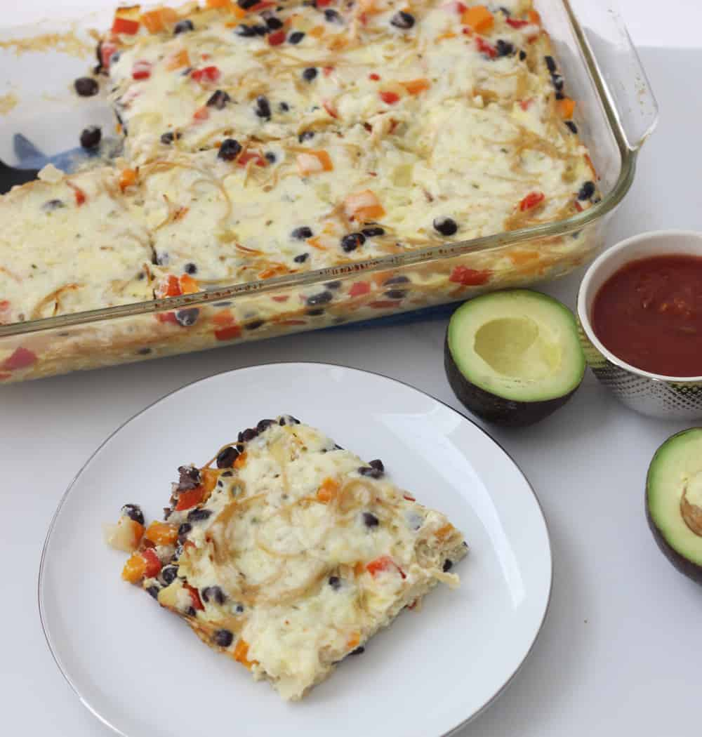Leftover pasta bulks up your favorite breakfast dish to make atasty, crowd-pleasing casserole. Healthy Mexican Pasta Frittata recipe from @memeinge is a great meal for dinner, breakfast or leftover lunch. (sponsored post)