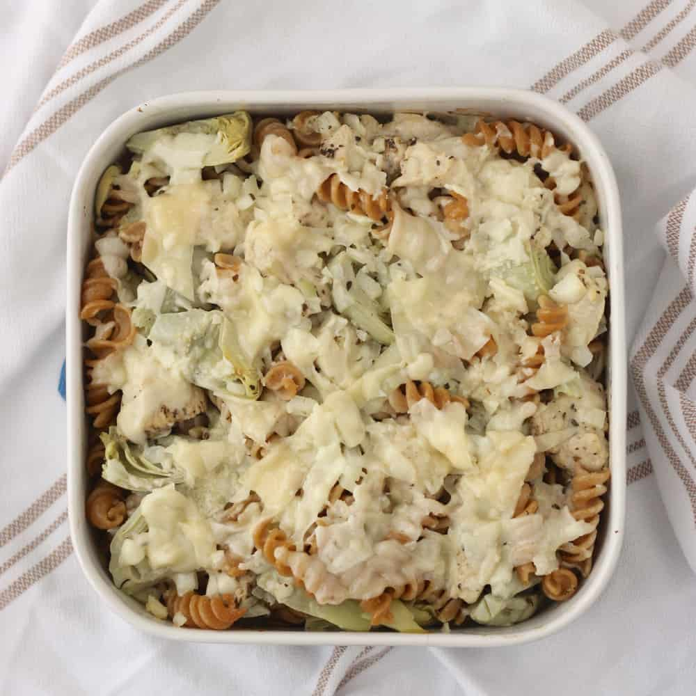 Lemon Chicken Pasta Casserole from Living Well Kitchen