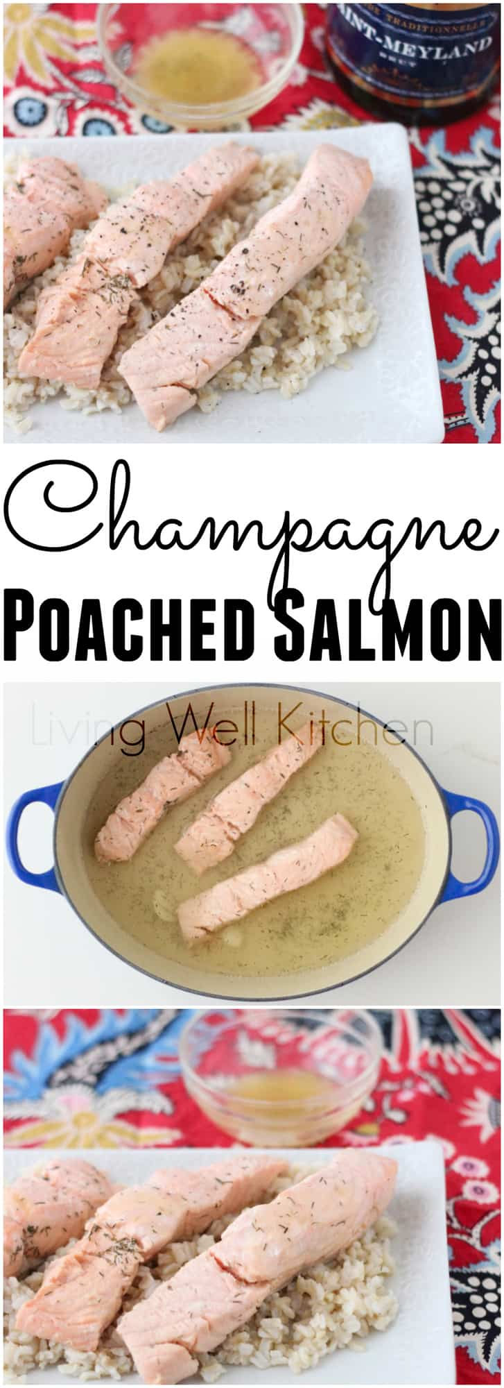 Lazy Girl's Champagne Poached Salmon proves that you don't have to get out of your pajamas just to have a fancy, delicious meal. Champagne Poached Salmon recipe from @memeinge is a healthy dinner idea that's gluten free and easy to make