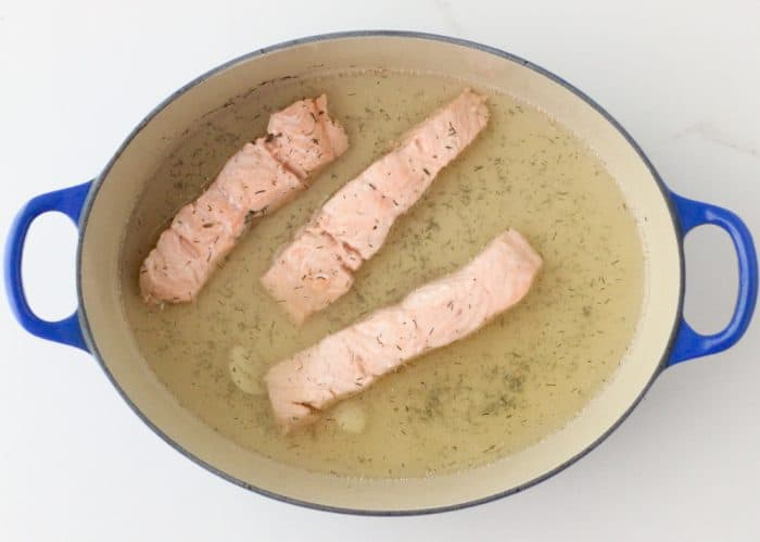 Champagne Poached Salmon from Living Well Kitchen @memeinge