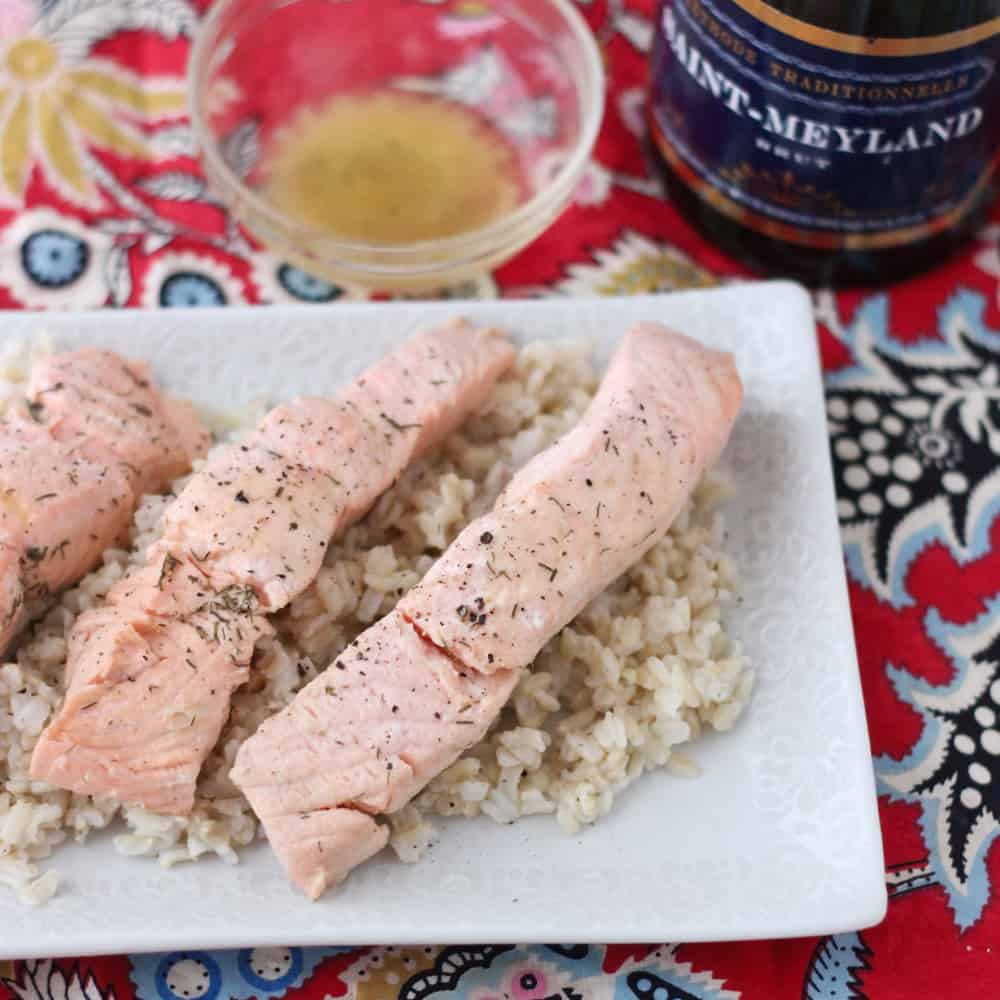 Champagne Poached Salmon