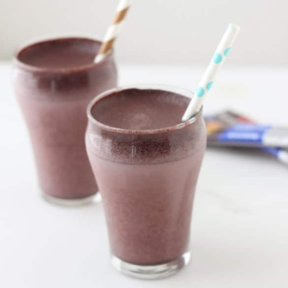 Chocolate Cream Fizz with CocoaVia® Sweetened Dark Chocolate from Living Well Kitchen