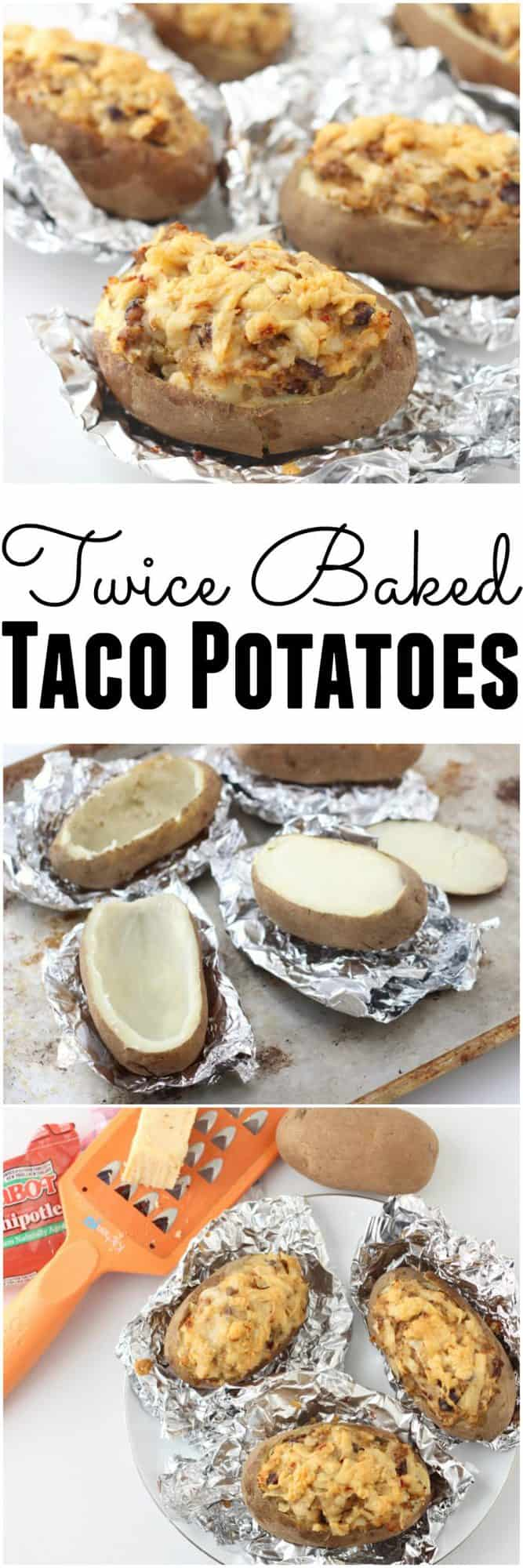 You can't go wrong when you mix tacos and twice baked potatoes! Use up your leftovers for these delicious Twice Baked Taco Potatoes from @memeinge. This healthy recipe makes your leftovers look like a great idea for dinner