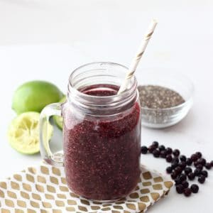 Wild Blueberry Limeade Smoothie