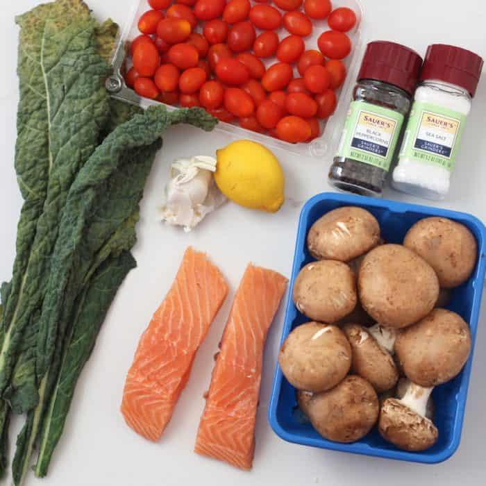 Salmon en Papillote ingredients