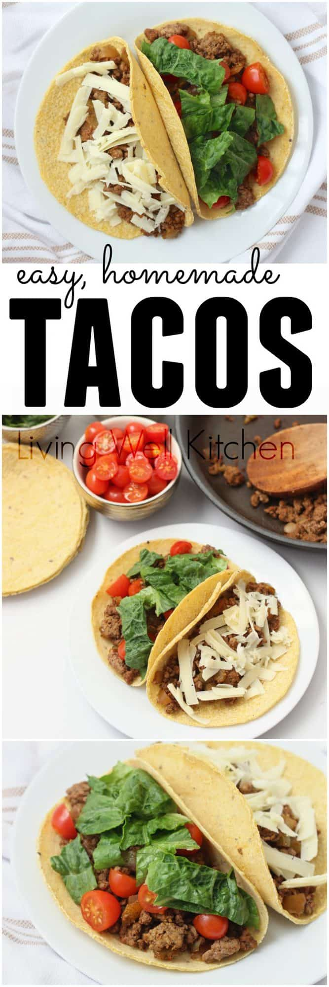 Ground Beef Tacos from @memeinge. A favorite easy recipe for ground beef tacos that doesn't use taco seasoning packets. Customize the toppings for your family! Gluten free, dairy free
